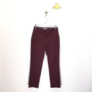 Boden maroon wine skinny ankle pant trousers US 2P